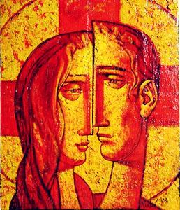 Trwajcie w miłości mojej - ikona małżeńska dla ruchu spotkania małżeńskie